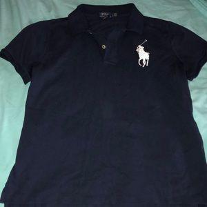 Two button up collar neck polo shirt